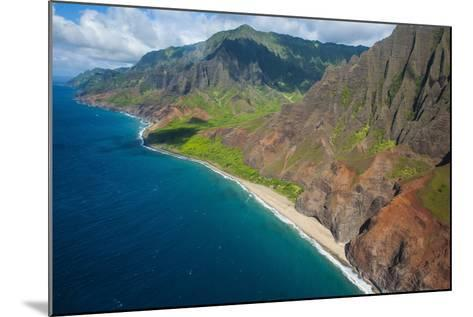 Aerial of the Rugged Napali Coast, Kauai, Hawaii, United States of America, Pacific-Michael Runkel-Mounted Photographic Print