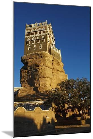 Rock Palace (Dar Al Hajar), Wadi Dhar, Yemen, Middle East-Bruno Morandi-Mounted Photographic Print