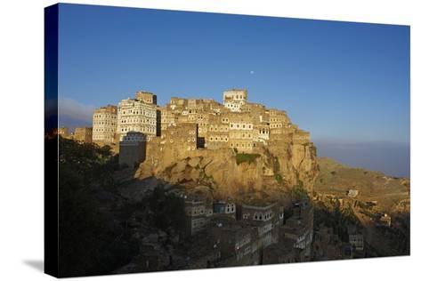 Al Hajjarah Village, Djebel Haraz, Yemen, Middle East-Bruno Morandi-Stretched Canvas Print