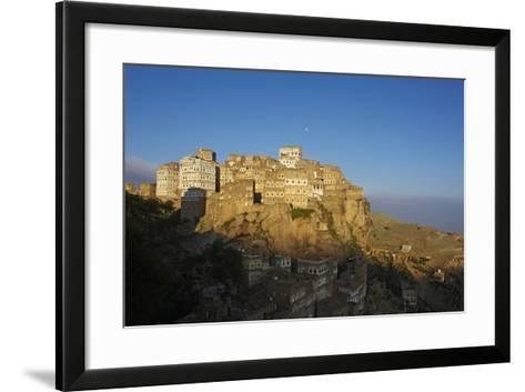 Al Hajjarah Village, Djebel Haraz, Yemen, Middle East-Bruno Morandi-Framed Art Print