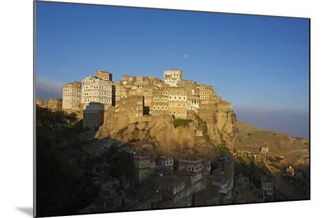 Al Hajjarah Village, Djebel Haraz, Yemen, Middle East-Bruno Morandi-Mounted Photographic Print