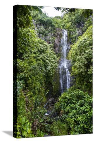 Makahiku Falls on the East Coast of Maui, Hawaii, United States of America, Pacific-Michael Runkel-Stretched Canvas Print