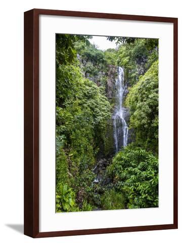 Makahiku Falls on the East Coast of Maui, Hawaii, United States of America, Pacific-Michael Runkel-Framed Art Print