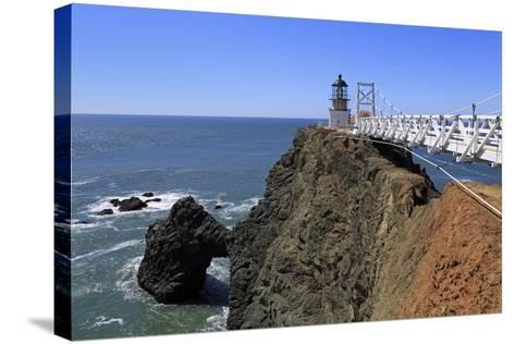 Point Bonita Lighthouse-Richard Cummins-Stretched Canvas Print
