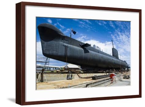 Hmas Ovens Submarine in the Western Australian Maritime Museum-Michael Runkel-Framed Art Print
