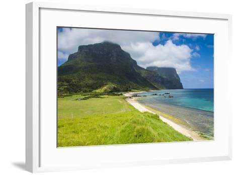 Mount Lidgbird and Mount Gower-Michael Runkel-Framed Art Print