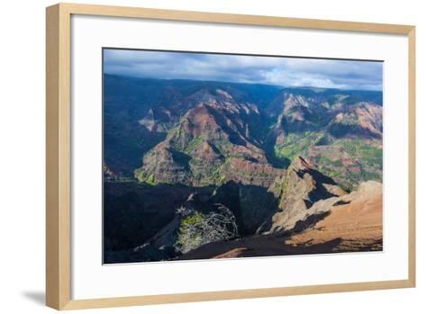 View over the Waimea Canyon, Kauai, Hawaii, United States of America, Pacific-Michael Runkel-Framed Art Print