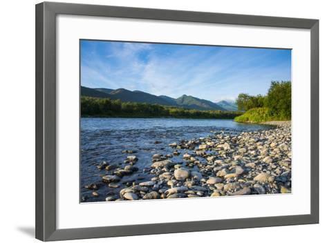 Pebblestones Beach on the Bystraya River, Kamchatka, Russia, Eurasia-Michael Runkel-Framed Art Print