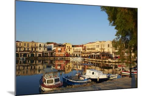 Venetian Port of Rethymnon, Crete, Greek Islands, Greece, Europe-Bruno Morandi-Mounted Photographic Print