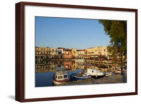 Venetian Port of Rethymnon, Crete, Greek Islands, Greece, Europe-Bruno Morandi-Framed Art Print