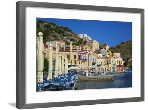 Gialos Harbour, Symi, Dodecanese, Greek Islands, Greece, Europe--Framed Art Print