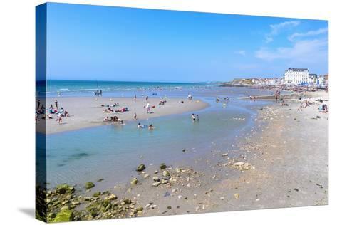 Wimereux Beach, Cote D'Opale, Region Nord-Pas De Calais, France, Europe-Gabrielle and Michel Therin-Weise-Stretched Canvas Print