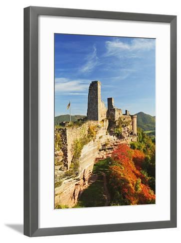 Altdahn Castle, Dahn, Palatinate Forest, Rhineland-Palatinate, Germany, Europe-Jochen Schlenker-Framed Art Print