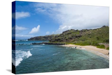 Sandy Beach, Island of Molokai, Hawaii, United States of America, Pacific-Michael Runkel-Stretched Canvas Print