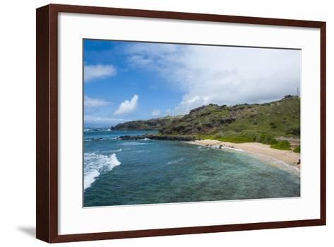 Sandy Beach, Island of Molokai, Hawaii, United States of America, Pacific-Michael Runkel-Framed Art Print