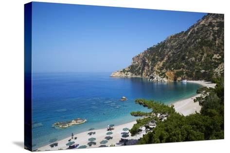 Apella Beach, Karpathos, Dodecanese, Greek Islands, Greece, Europe--Stretched Canvas Print