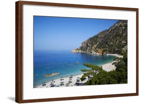 Apella Beach, Karpathos, Dodecanese, Greek Islands, Greece, Europe--Framed Art Print