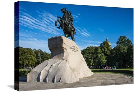 Bronze Horseman Statue in St. Petersburg, Russia, Europe-Michael Runkel-Stretched Canvas Print