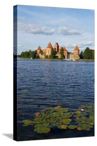 Island Castle of Trakai Near Vilnius, Lithuania, Europe-Bruno Morandi-Stretched Canvas Print