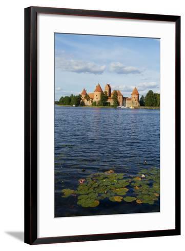 Island Castle of Trakai Near Vilnius, Lithuania, Europe-Bruno Morandi-Framed Art Print