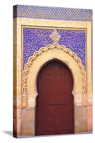 Gate to Royal Palace, Meknes, Morocco, North Africa, Africa-Neil Farrin-Stretched Canvas Print