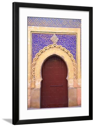 Gate to Royal Palace, Meknes, Morocco, North Africa, Africa-Neil Farrin-Framed Art Print
