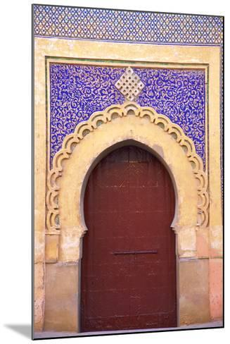Gate to Royal Palace, Meknes, Morocco, North Africa, Africa-Neil Farrin-Mounted Photographic Print
