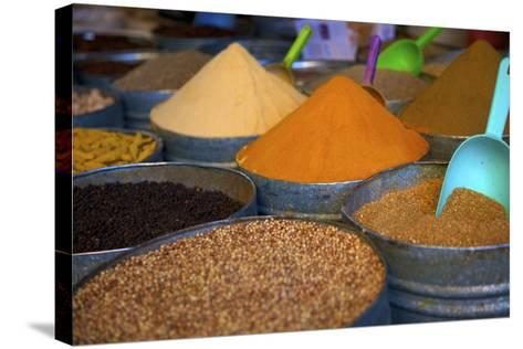 Spices, Fez, Morocco, North Africa, Africa-Neil Farrin-Stretched Canvas Print