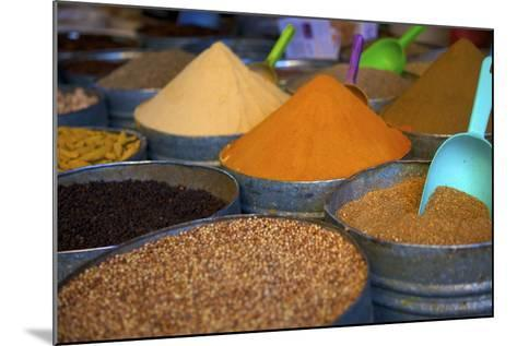 Spices, Fez, Morocco, North Africa, Africa-Neil Farrin-Mounted Photographic Print