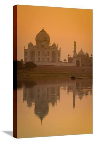 Taj Mahal Reflected in the Yamuna River at Sunset-Doug Pearson-Stretched Canvas Print