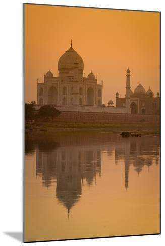 Taj Mahal Reflected in the Yamuna River at Sunset-Doug Pearson-Mounted Photographic Print