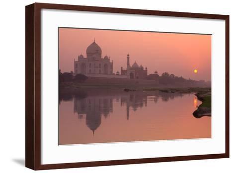 Taj Mahal Reflected in the Yamuna River at Sunset-Doug Pearson-Framed Art Print