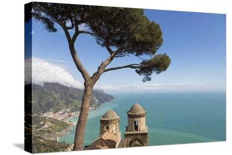The Twin Domes of San Pantaleone Church from Villa Rofolo in Ravello-Martin Child-Stretched Canvas Print