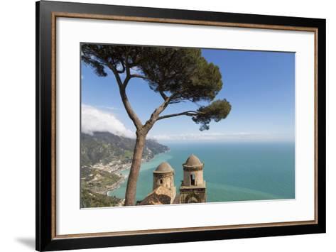 The Twin Domes of San Pantaleone Church from Villa Rofolo in Ravello-Martin Child-Framed Art Print