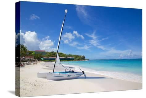Long Bay and Beach and Hobie Cat, Antigua, Leeward Islands, West Indies, Caribbean, Central America-Frank Fell-Stretched Canvas Print
