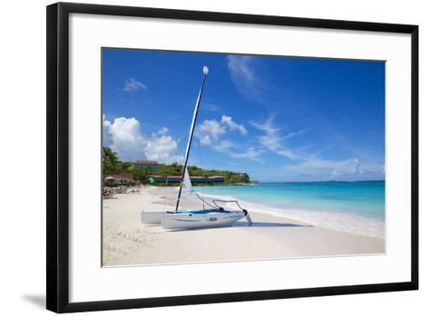 Long Bay and Beach and Hobie Cat, Antigua, Leeward Islands, West Indies, Caribbean, Central America-Frank Fell-Framed Art Print