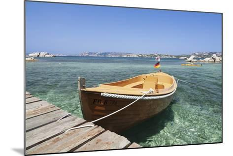 Boat at a Jetty, Palau, Sardinia, Italy, Mediterranean, Europe-Markus Lange-Mounted Photographic Print
