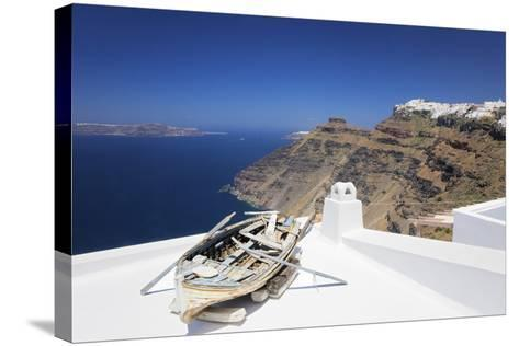 View from Firostefani to Imerovigli-Markus Lange-Stretched Canvas Print