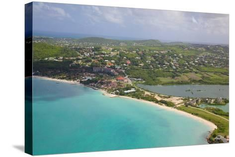 View of Dickinson Bay and Beach, Antigua, Leeward Islands, West Indies, Caribbean, Central America-Frank Fell-Stretched Canvas Print