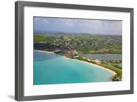 View of Dickinson Bay and Beach, Antigua, Leeward Islands, West Indies, Caribbean, Central America-Frank Fell-Framed Art Print