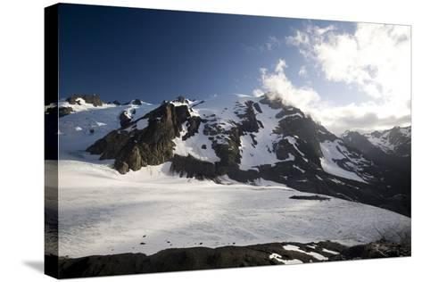 Mount Olympus and Blue Glacier-Colin Brynn-Stretched Canvas Print