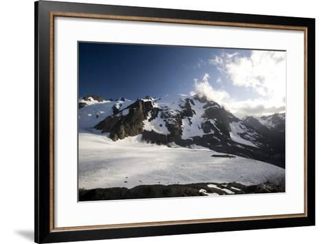 Mount Olympus and Blue Glacier-Colin Brynn-Framed Art Print