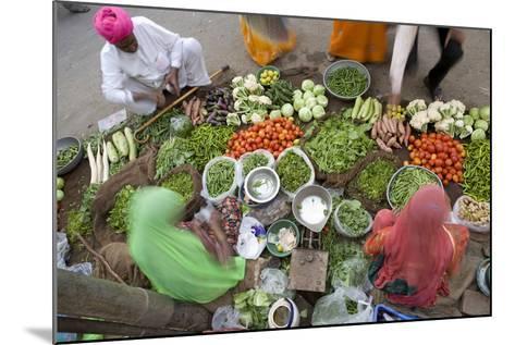 Vegetable Market, Jaisalmer, Western Rajasthan, India, Asia-Doug Pearson-Mounted Photographic Print