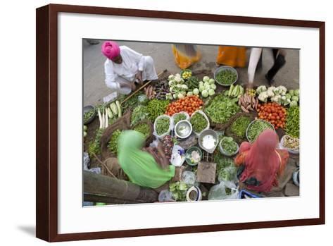 Vegetable Market, Jaisalmer, Western Rajasthan, India, Asia-Doug Pearson-Framed Art Print