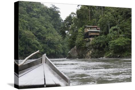 On the Madre De Dios River, Peru, South America-Peter Groenendijk-Stretched Canvas Print