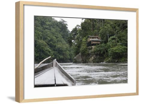 On the Madre De Dios River, Peru, South America-Peter Groenendijk-Framed Art Print