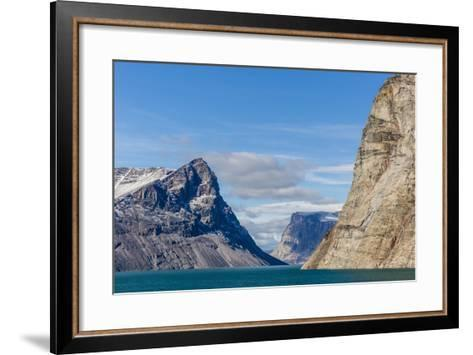 Snow-Capped Peaks and Glaciers in Icy Arm, Baffin Island, Nunavut, Canada, North America-Michael Nolan-Framed Art Print