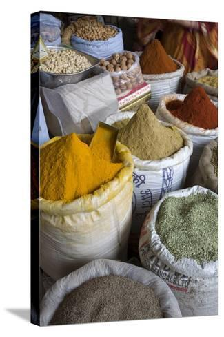 Spices, Jaipur, Rajasthan, India, Asia-Doug Pearson-Stretched Canvas Print