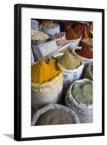 Spices, Jaipur, Rajasthan, India, Asia-Doug Pearson-Framed Art Print