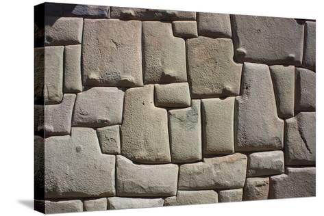 Magnificent Inca Wall, Cuzco, UNESCO World Heritage Site, Peru, South America-Peter Groenendijk-Stretched Canvas Print
